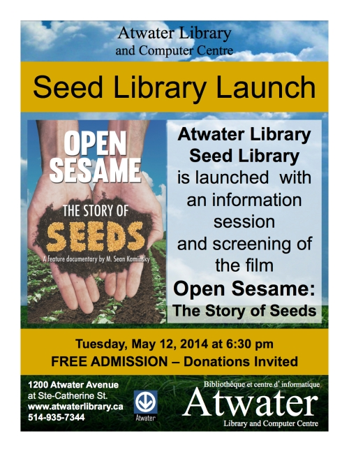Seed Library Launch - Atwater Library.ppt (Read-Only) copy